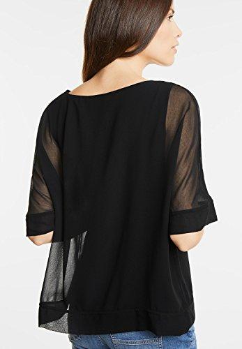 Street One Damen Doppellagiges Shirt Stea Black (Schwarz)