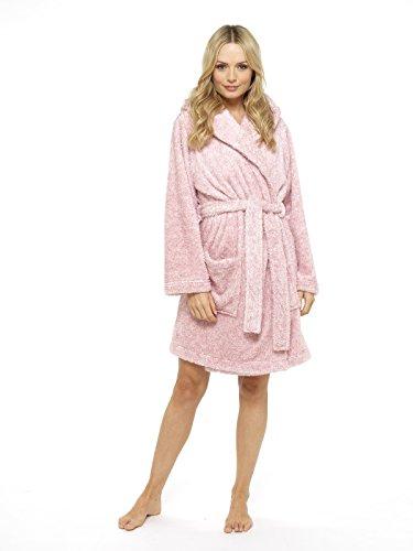 Luxus Damen Bademantel Plüsch Damen Robe Neuheit Tierhaube Super Soft Touch Fleece Pinguin Eule mit Kapuze Bademäntel - perfektes Geschenk für sie! Eule