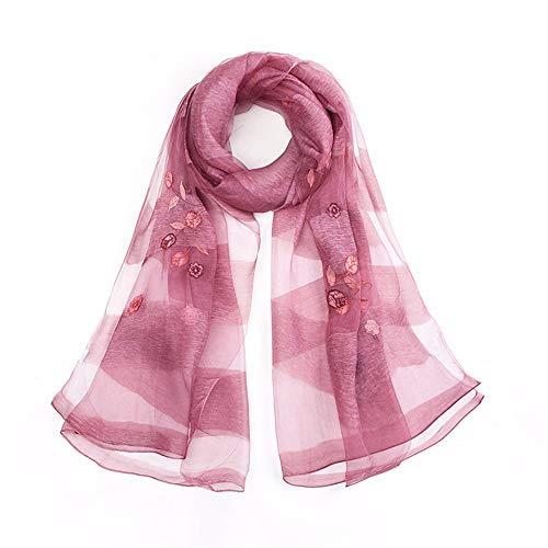 6f440479e51cd yuyu19 Seidenschal Damen Luxuriöse Schals Elegante Seidentuch Hohe Qualität  Hautfreundlich Anti-Allergie Halstuch Tuch als