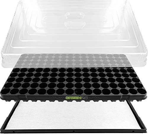 GREEN24 Hydroponik 144 XL Zimmergewächshaus mit automatischer Bewässerung Anzuchthaus Zimmer Gewächshaus – Treibhaus