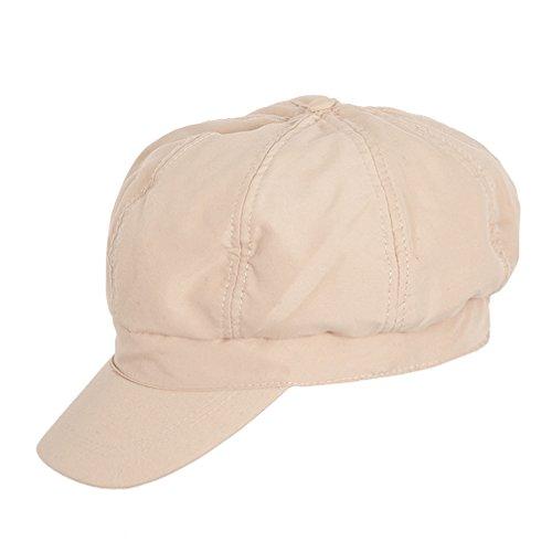 WEROR WEROR - Damen - Ballonmütze Balloncap Schirmmütze Mütze Cap 42.679258 (56 cm, Beige)