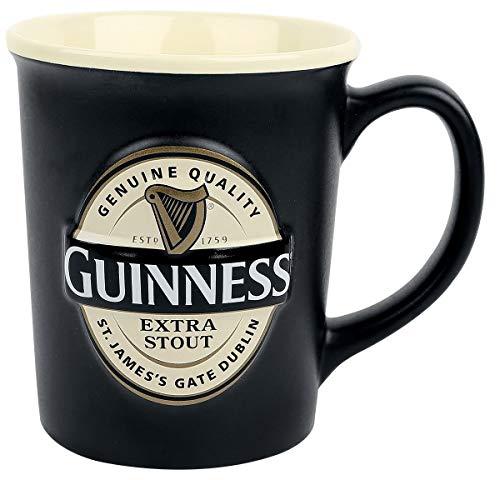 Guinness Label (GUINNESS Embossed Label Mug XXL - Grosse Keramiktasse mit geprägtem Guinness-Label)
