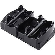 turnraise 3-in-1mando inalámbrico cargador doble estación de carga Dock para PS4Playstation 4/PS3PS3Move
