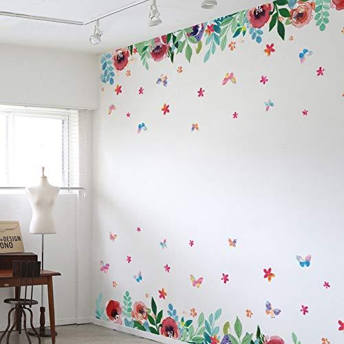 XFDJYA Tapete DIY Blume tapete Grenze für wände Selbstklebende tapete PVC tapete wohnkultur Baby Zimmer wandtattoos (Wand Selbstklebende Grenze)