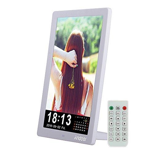 gitaler Bilderrahmen 1280 * 800 Desktop-Frame-Unterstützung MP3 / MP4 / E-Buch / Kalender / Wecker Funktion mit Fernbedienung Weihnachtsgeschenk ()