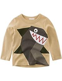 a8b54ab7bbc5a BOBORA T-Shirt Garçon, Pull-Over T-Shirts à Manches Longues Dinosaures