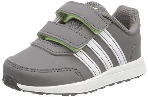 adidas Unisex Baby VS Switch 2 CMF INF Sneaker, Grau (Grey/Footwear White/Hi-Res Yellow 0), 22 EU