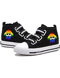 YiqiUime Splatoon Zapatos Zapatos de la Zapatilla Personalizar los Zapatos de Lona Zapatos for niños Ligero y Transpirable Alto-Top de los Zapatos niños y niñas