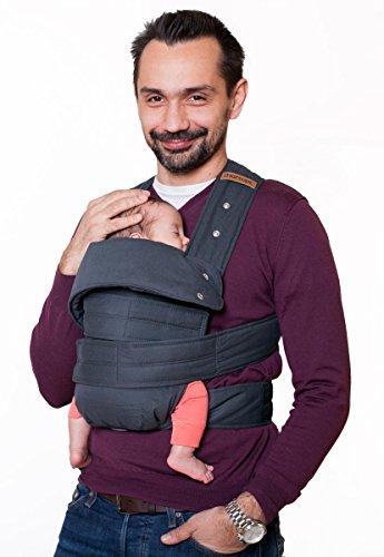 Marsupi Baby und Kindertrage I kompakte Bauch und Hüfttrage I S/M I grau / grey I genial einfach