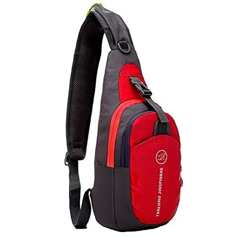 G7Explorer Waterproof Lightweigh Breathable Chest Bag Sling Shoulder Backpack Red