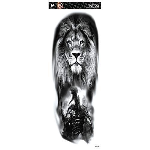 Handaxian 2pcs-New volle Arm Tattoo Aufkleber wasserdichte Männer und Frauen können angepasst Werden Tiger Crown Lion Jesus 2pcs-8