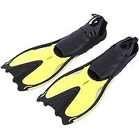 Shuzhen,Aletas de natación emparejadas Aletas sumergibles Zapatos de Snorkel Equipo de Buceo(Color:Amarillo,Size:S)