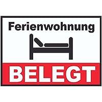 """Schild im Straßenschild-Design /""""Zimmer belegt/"""" 30 x10 cm Alu-Verbund"""