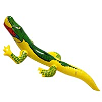 TopDeals4You Blow up Inflatable Crocodile Alligator Party Decoration Prop Accessory 80cm Animals Party Toys Pool Supplies - Assorted Color - Randomly Sent