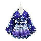 Lilalit nichos japonés Estilo Kimono Albornoz Vestido Anime Cosplay Yukata Serie japonés nichos Verano Nette niña Anime Cosplay Disfraces, Rabu raibu Sonoda UMI (Festival Ver.)