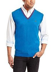 Arrow Sports Mens Polyester Sweater (8907259391960_AKQS8423_X-Large_Melange Blue)