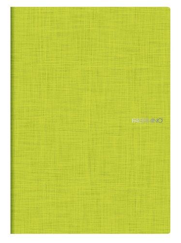 FABRIANO Notizbuch, A4, Klammerheftung, kariert Lime Grün (5Stück) -