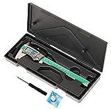 150mm Digital Messschieber Digitaler Schieblehre mit großem Display und rundem Tiefenmaß Messschieber Englisch- H2380
