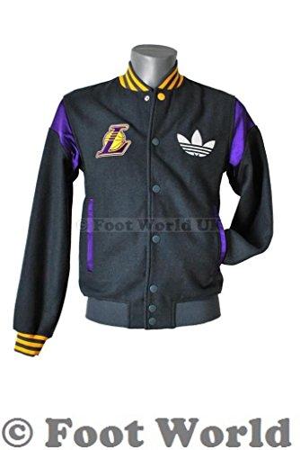 """Adidas LA Lakers Men's Jacket """"- Man-grau, violett und gelb Grau - Grau"""