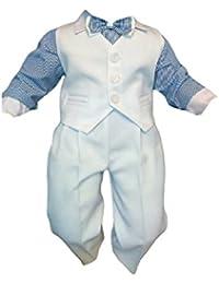 Traje de bautizo jóvenes de bebé Infantil Traje De Boda De Fiesta, 4 piezas ,