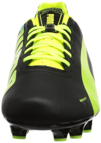 Puma  evoSPEED 4.2 FG, Chaussures de football homme Noir - Schwarz (black-fluo yellow-brilliant blue 01)