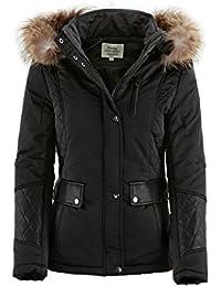 Softly Damen Jacke mit Lederdetails in 2 Farben Couture 5563