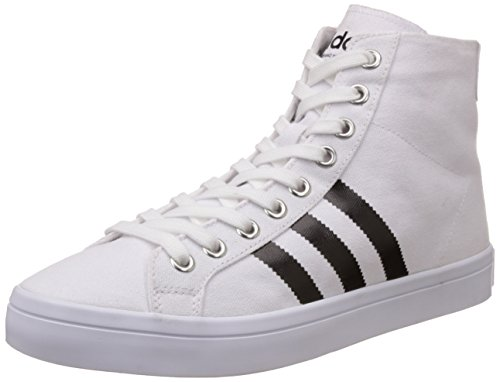 adidas Originals Men's Courtvantage Mid White, Black and Silver Sneakers - 8 UK  available at amazon for Rs.2914