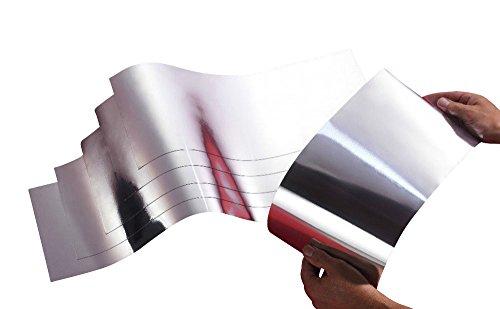 Energiesparfolie magnetisch für Heizungen | Heizkörper Dämmung 500mm x 195mm - 6er Set (Zurück Dämmung)