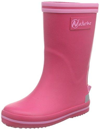NaturinoNATURINO RAIN BOOT. - Stivali foderati a mezza gamba, contro il freddo Bambina , Rosa (Pink (GOMMA FUXIA-ROSA)), 31