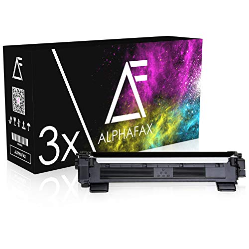 Alphafax 3 Toner kompatibel für TN-1050 für Brother DCP-1510, DCP-1512A, HL-1110, HL-1112, HL-1201, MFC-1910W, MFC-1911NW - Schwarz je 1.500 Seiten