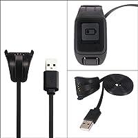 USB Carga de Datos Cable Cargador para TomTom Spark Cardio Deporte Reloj GPS Fitness reloj bastidor 830mm, color negro