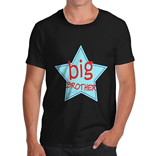 TWISTED ENVY Herren T-Shirt Big Brother Star Sibling Print X-Large Schwarz (Big-brother-star)
