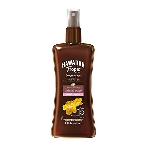 Hawaiian Tropic Protective Dry Spray Oil Sonnenöl LSF 15, 200 ml, 1 St