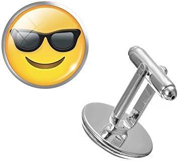 Emoji Gafas de sol sonrisa y gemelos de Cosplay