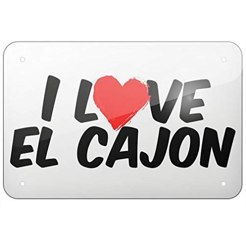 SIGNCHAT Metallschild I Love EL Cajon, 20,3 x 30,5 cm