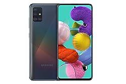 Samsung Galaxy A51 (16.4cm (6.5 Zoll) 128 GB interner Speicher, 4 GB RAM, Dual SIM, Android, prism crush black) Deutsche Version
