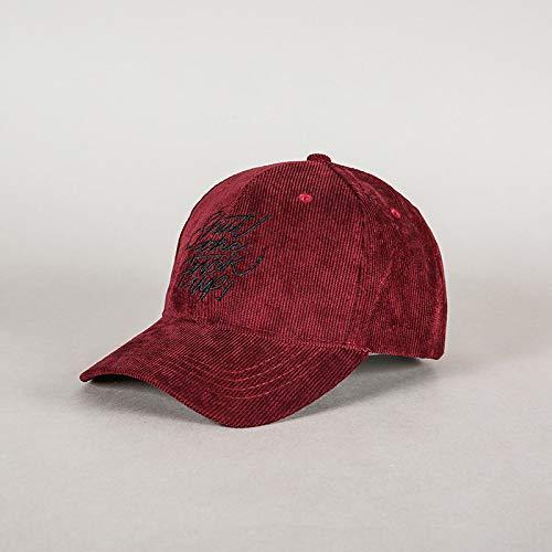 zhuzhuwen Adult Baseball Cap Neue Stickerei einfarbig Hard Top Cap Cord Männer und Frauen Wilde Paar Modelle 1 56-58cm -