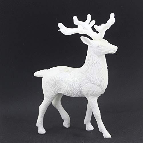 Gaddrt Rentier-Puppe Weißes Rotwild-Weihnachtsweihnachtsren-Kind-Puppen-Dekor-Ausgangsdekoration-Partei-Verzierung (A)