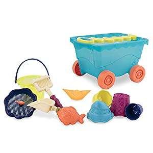 "B. Toys 44689 ""Playa Wagon Azul Playa Juguete Set"