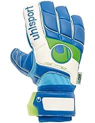 Uhlsport - Guantes de porteo Fangmaschine Aquasoft HN, tamaño 11, color azul/blanco/verde