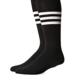 westeng 1par hombre mujer long-barreled rayas calcetines de animadora de fútbol baloncesto deportes calcetines de algodón Calcetines de caña alta, negro