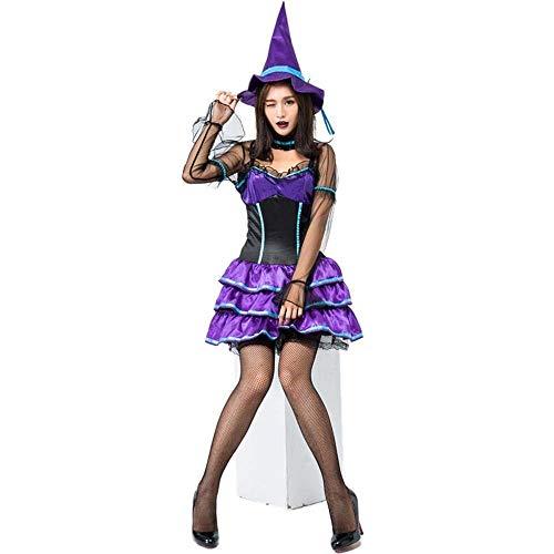 Fashion-Cos1 Halloween Vampire & Devil Kostüm Für Frauen Tod Sexy Long Ghost Hexe Scary Stage Carnival Cosplay Kleid Kuchen Kleid Magic Girl Game Kostüm