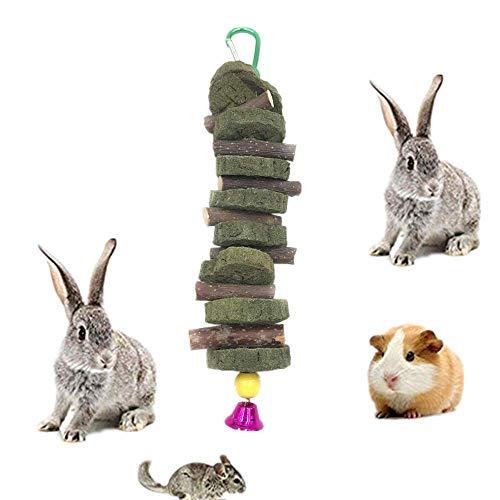 Apple Sticks Pet Chew Toys Pastel de Hierba Natural Comestible Molar Dientes Grinding Juguete para Conejos, Loros, Gerbil, Ardilla, Chinchillas, hámsters, cobayas