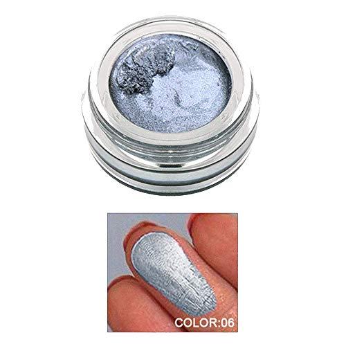 Surligneur Maquillage Correcteur 14 couleurs Gelée Scintillement Visage Lueur Le Fard à Paupières Crème Surligneur (F)