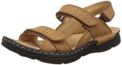 Red Chief Men's Rust Leather Sandals and Floaters - 9 UK/India (43 EU)(RC0570)