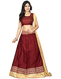 Radiance Star Banglori Silk Lehenga Choli (RSS-1092AH_Red_Free Size )
