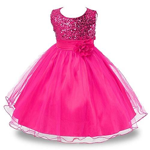 Disney Princess Belle Wedding Dress - Baby Girl 3D Flower Silk Princess