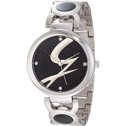 Gattinoni Women's W0197LSSBLK Astra Stainless Steel Black Logo Dial Watch
