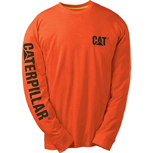 Caterpillar Cat Longsleeve, Schwarz, Größe XL Grün
