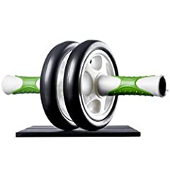 Idea Regalo - Ultrasport Attrezzo per addominali AB Roller, attrezzo fitness maneggevole e trainer per muscoli addominali - allena addome, muscolatura e schiena - ruota per addominali inclusi supporto per le ginocchia e istruzioni per gli esercizi, Verde
